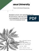 Resistance of Members to Flexural Buckling