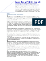 How to Apply for a PhD in the US