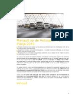 Renault Persdossier Parijs Motor Show