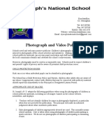 photograph and video policy