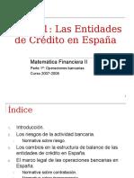 Apuntes del sistema financiero español