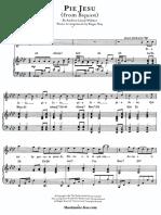 Pie Jesu Sheet Music From Requiem Andrew Lloyd (SheetMusic Free.com)