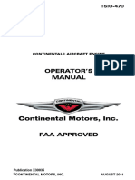 Continental TSIO-470 Operator's Manual