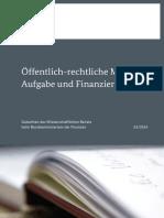 Öffentlich-rechtliche Medien - Aufgabe und Finanzierung