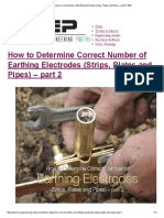 How to Determine Correct Number of Earthing Electrodes (Strips, Plates and Pipes) – Part 2 _ EEP