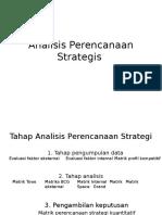 Analisis Perencanaan Strategis Prof Alimin