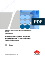 IManager U2000 V200R015C60 Single-Server System Software Installation and Commissioning Gui