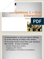 competency 1  oral interaction