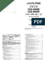 Alpine-CDA-9855R-CDA-9853R-Pdf-Rus.Pdf