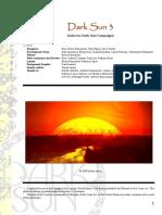 D& D - Dark Sun 3.5 Setting