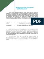 Acta de Instalacion Del Consejo de Administracion