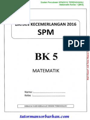 Math Spm Trial 2016 Terengganu Bk05 P1 Ans