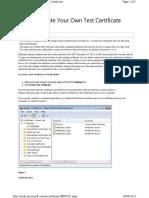 Creacion de Certificado Llave Pvk y Archivo Pfx
