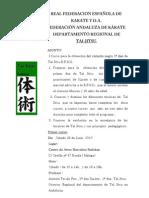 Circular de Primer Curso 26 Junio de Tai Jitsu Andaluza Y D