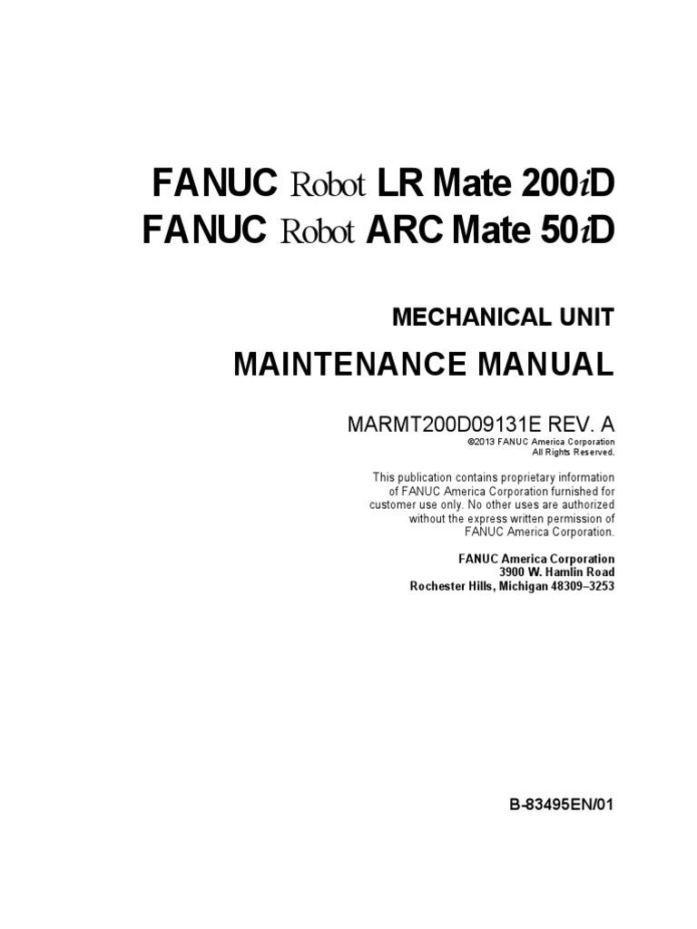 LR Mate 200id Mechanical Unit Maintenance Manual | Safety | Technology