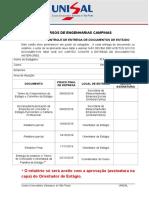 Cartao de Controle de Entrega de Documentos 2016 2