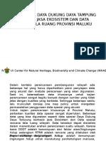 Materi Penyiapan Data Spasial Jasa Ekosistem Dan Pola Ruang Maluku