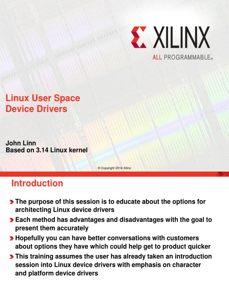 Xilinx-drivers-session3_Linux User Space Device Drivers-uio
