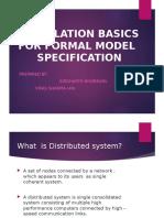 Simulation basics for formal model specification