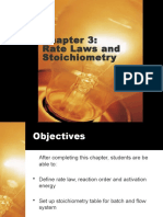 Chapter 3 Rev1 rate laws & stoichiometry