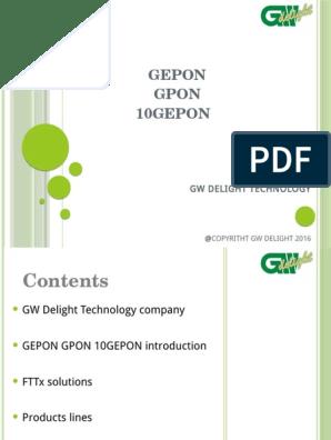 Gpon Introduction