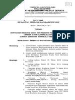 SK Penyusunan indikator klinis dan indikator perilaku   pemberi pelayanan klinis.doc