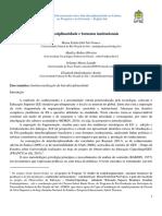 Interdisciplinaridade e formatos institucionais