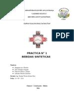 PRACTICA N° 1 BEBIDAS SINTETICAS