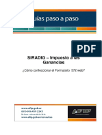 PasoaPasoSIRADiG - Instructivo Carga GANANCIAS AFIP