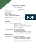 Sample Resume - No Work Experience