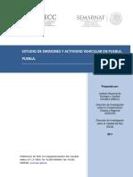Estudio de Emisiones y Actividad Vehicular Puebla 2011