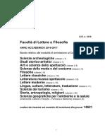 Programma Formativo Lingue Sapienza