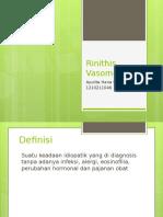 Rinithis Vasomotor