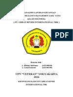 Analisis dan penyelesaian kasus PT Great River International Tbk