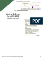 Masina de Frezat NovaMill CNC - Manual de Programare