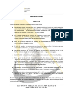 Ficha Técnica de Cabina Insonora