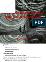 Desenvolvimento de Mina Subterranea