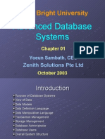 Advanced Database System - Chapter 01