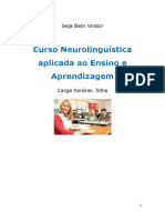 Curso Neurolingu Stica Aplicada Ao Ensino e Aprendizagem