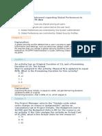 Primavera_Questions - Key & Explanation