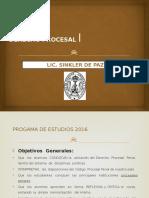 Derecho Procesal i