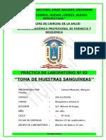 Prac 2 BQ2 TOMA DE MUESTRAS SANGUÍNEAS
