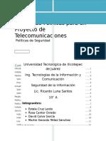 Manual de Politicas Para Un Proyecto de Telecomunicaciones