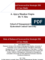 role of balanced scorecard in strategic hr a case study