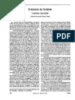 Cornelius Castoriadis (1992) El Deterioro de Occidente. Vuelta No 184, Marzo