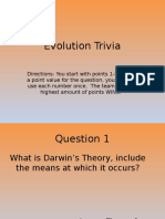 Evolution Trivia
