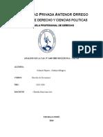 Casacion n1449 2003 Moquegua Tacna Analisis