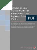 Resumo Dos Três Primeiros Capítulos Do Livro Materials and the Environment