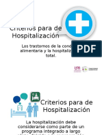 Criterios Para de Hospitalización