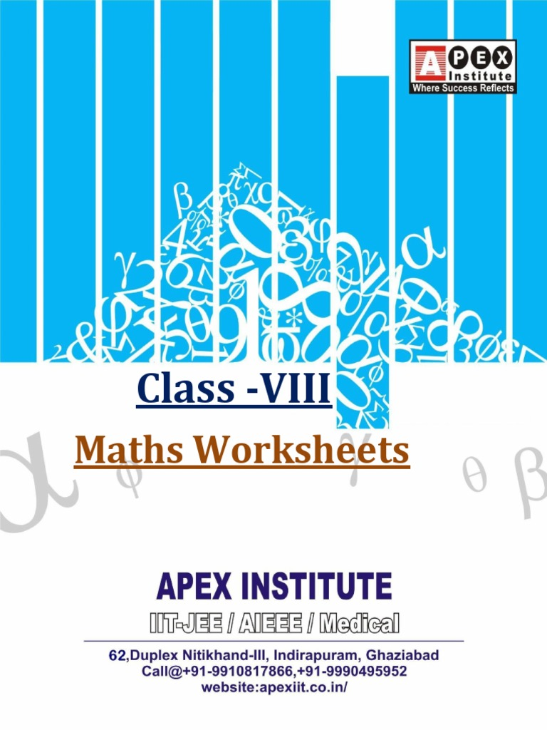 123338035-Class-VIII-Maths-Worksheets.pdf | Rectangle | Fraction ...